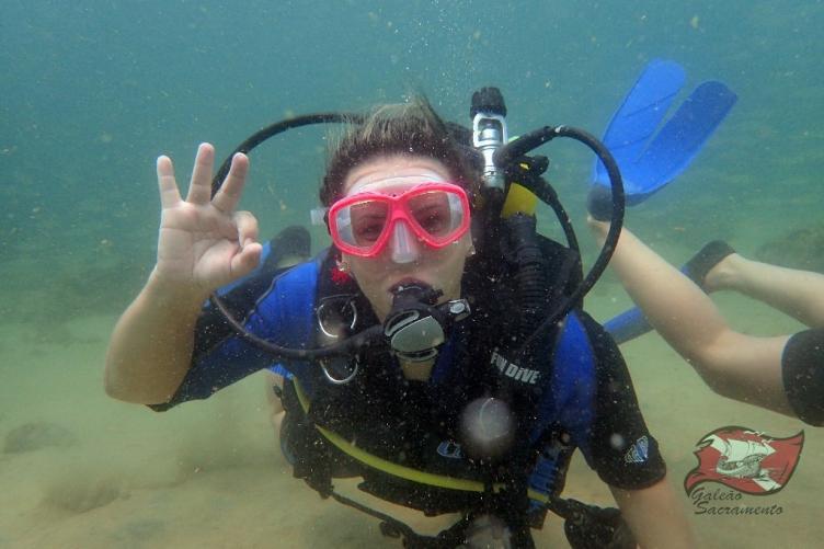 Mergulho na praia do Porto da Barra